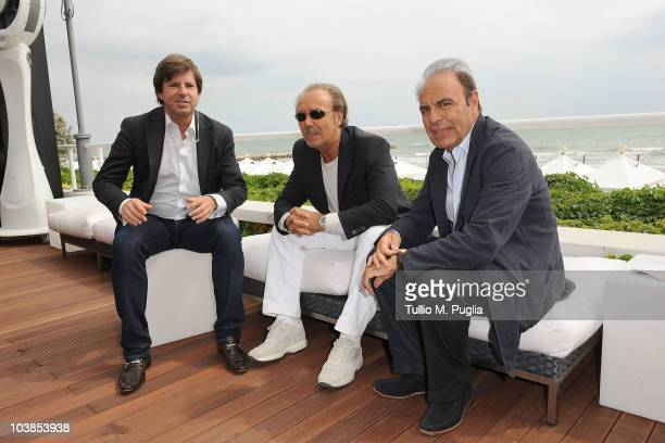 Mauro Masi, Francois Olivier and Bruno Vespa attend the Lancia Cafe during the 67th Venice International Film Festival on September 5, 2010 in...