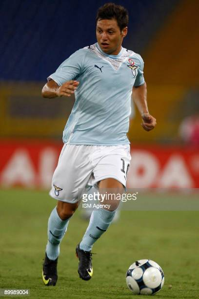 Mauro Matias Zarate of S.S. Lazio runs with the ball during the UEFA Europa League first preliminary match between S.S. Lazio and IF Elfsborg at the...