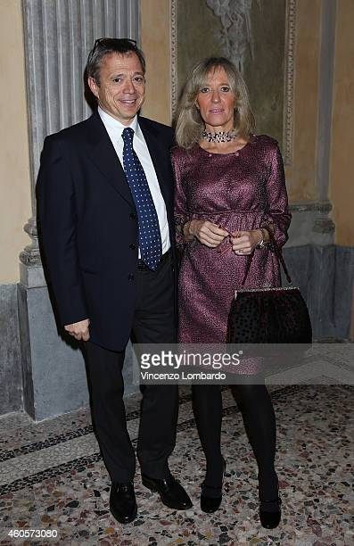 Mauro Melis and Barbara Cossetto attend the Fondazione IEO CCM Christmas Dinner For on December 16 2014 in Monza Italy