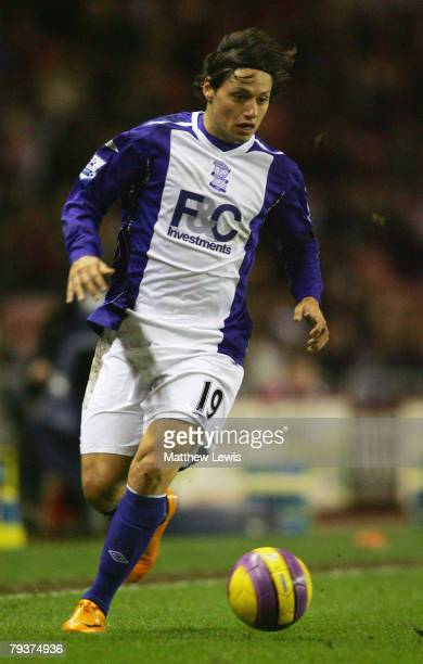 Mauro Zarate of Birmingham City in action during the Barclays Premier League match between Sunderland and Birmingham at the Stadium of Light on...