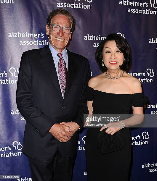 Maury Povich and Connie Chung attend the 2016 Alzheimer's Association's A Night At Sardi's at The Beverly Hilton Hotel on March 9 2016 in Beverly...