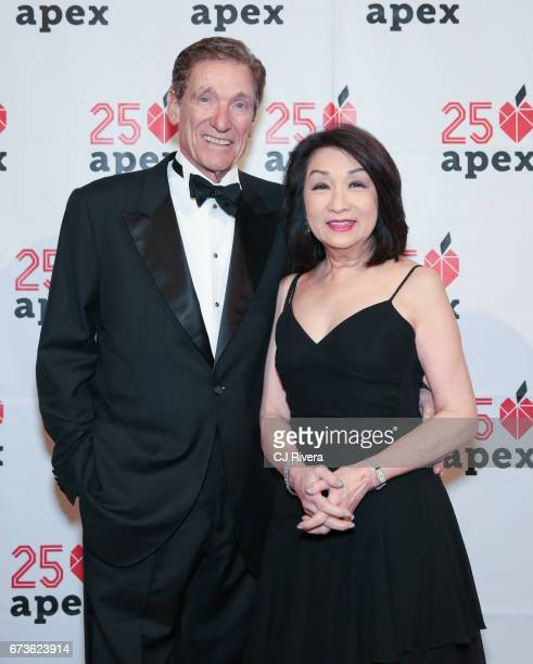 Maury Povich and Connie Chung attend the Apex for Youth's 2017 Inspiration Awards gala at Cipriani Wall Street on April 26 2017 in New York City