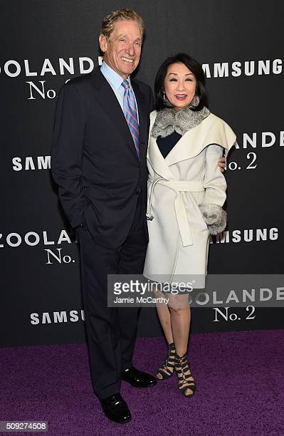 Maury Povich and Connie Chung attend the Zoolander 2 World Premiere at Alice Tully Hall on February 9 2016 in New York City