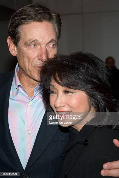 Maury Povich and Connie Chung during The Sopranos Sixth Season New York City Premiere Outside Arrivals at Museum of Modern Art in New York City New...