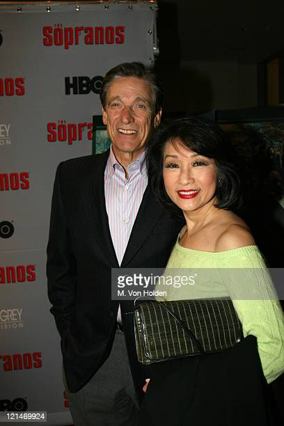 Maury Povich and Connie Chung during The Sopranos Sixth Season World Premiere at Museum of Modern Art in New York New York United States