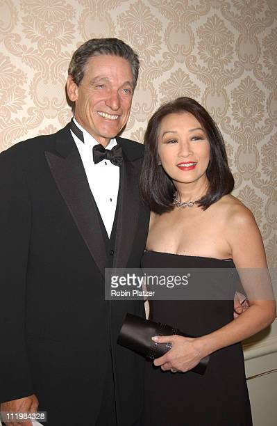 Maury Povich and wife Connie Chung during American Museum of the Moving Image Gala Honoring Bob Wright and Jim Robbins at St Regis Hotel in New York...