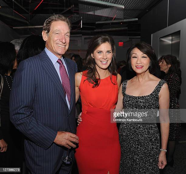 Maury Povich Erin Burnett and Connie Chung attend the launch party for CNN's Erin Burnett OutFront at Robert atop the Museum of Arts and Design on...