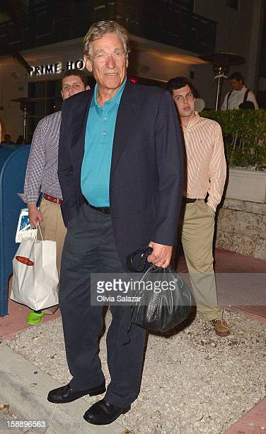 Maury Povich is seen at Prime 112 Steakhouse on January 2 2013 in Miami Beach Florida