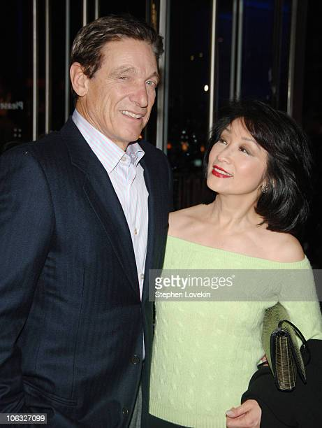 Maury Povitch and Connie Chung during The Sopranos Sixth Season Premiere Inside Arrivals at MoMA in New York City New York United States