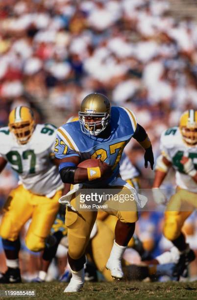 Maury Toy, Running Back for the University of California, Los Angeles UCLA Bruins runs the ball during the NCAA Pac-10 Conference college football...