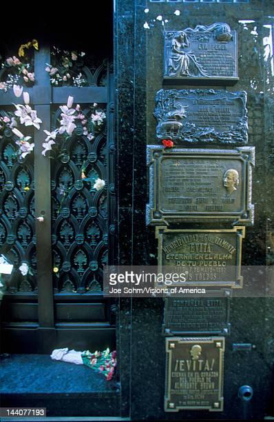 Mausoleum of Familia Duarte, burial site of Eva Peron in Buenos Aires, Argentina