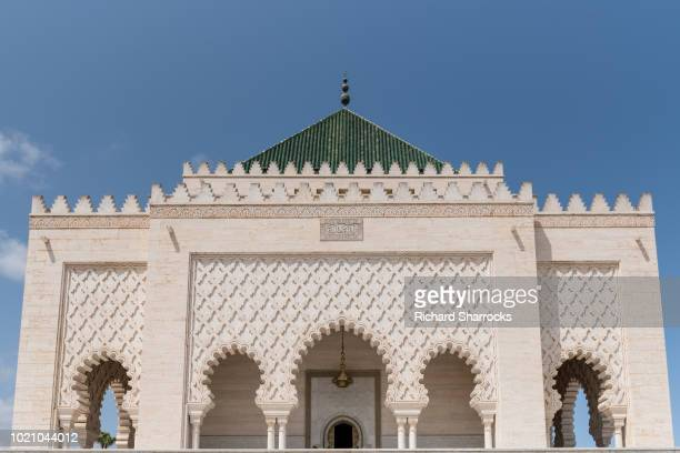 mausoleum of king mohammed v in rabat, morocco - rabat morocco stock pictures, royalty-free photos & images