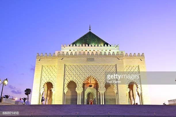 Mausoleum of Mohammed V at dusk, Rabat, Morocco, North Africa, Africa