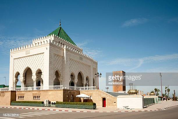 mausoleum of mohammed v - rabat morocco stock pictures, royalty-free photos & images