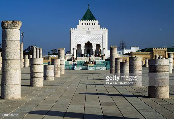 Mausoleum of Mohammed V which also houses the remains of his sons King Hassan II and Prince Abdallah Rabat Morocco
