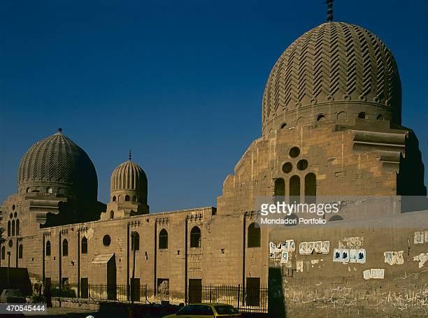'Mausoleum of Sultan Barquq by Mamluk craftsmen 13841386 14th Century sandstone Egypt Cairo Mamluk Necropolis Whole artwork view Sight of the rear...