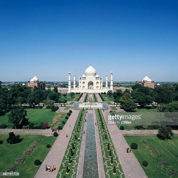 Mausoleum of Taj Mahal at sunset 16321648 Agra Uttar Pradesh India