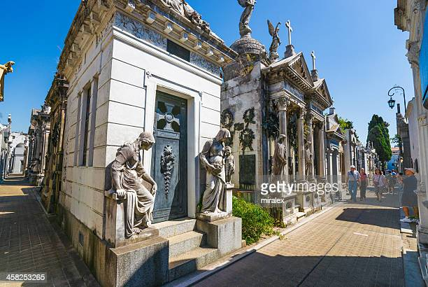 Mausoleums at Recoleta Cemetery in Buenos Aires, Argentina