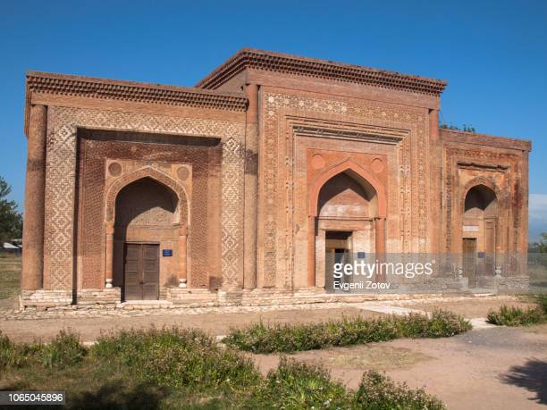 mausoleums of the karakhanids in uzgen, kyrgyzstan - osh stock pictures, royalty-free photos & images