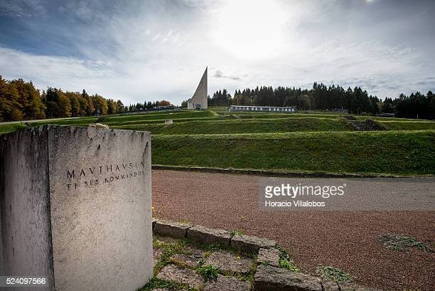 Mauthausen memorial stele at NatzweilerStruthof camp near Struthof France 21 October 2013 The camp a category III was opened by the Nazis on 21 April...