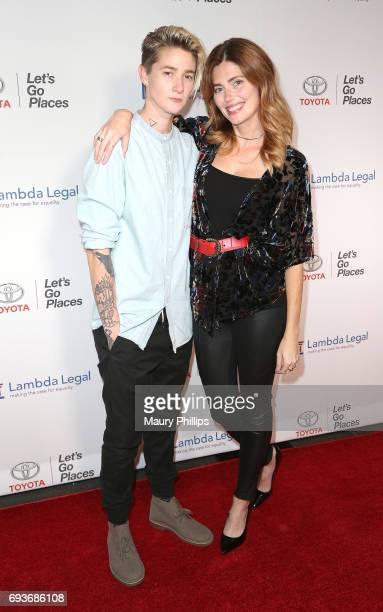 Mav Viola and Diora Baird arrive at Lambda Legal's 25th Anniversary West Coast Liberty Awards at TAO at the Dream Hotel on June 7 2017 in Los Angeles...
