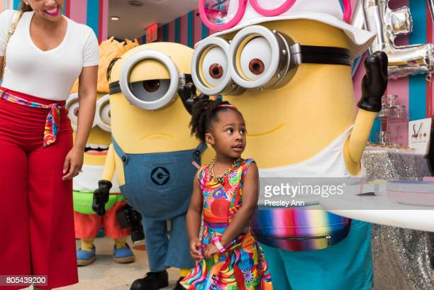 Maven Morgan attends Tracy Morgan celebrates his daughter's birthday with the Minions at Dylan's Candy Bar on July 1 2017 in New York City