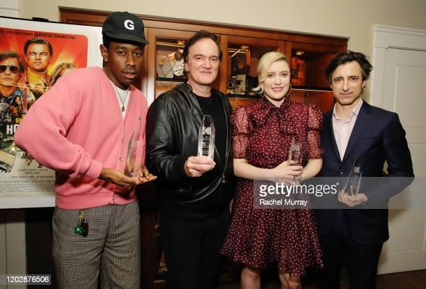'Maverick Award' winner Tyler the Creator 'Lifetime Achievement Award' winner Quentin Tarantino and 'Auteur Award' winners Greta Gerwig and Noah...