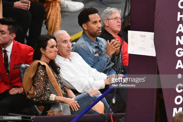 Maverick Carter attends a basketball game between the Los Angeles Lakers and the Dallas Mavericks at Staples Center on October 31 2018 in Los Angeles...