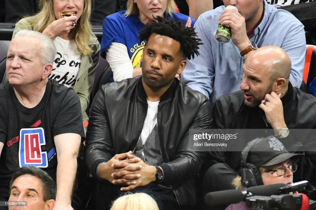 Celebrities At The Golden State Warriors v Los Angeles Clippers - Game Three : News Photo
