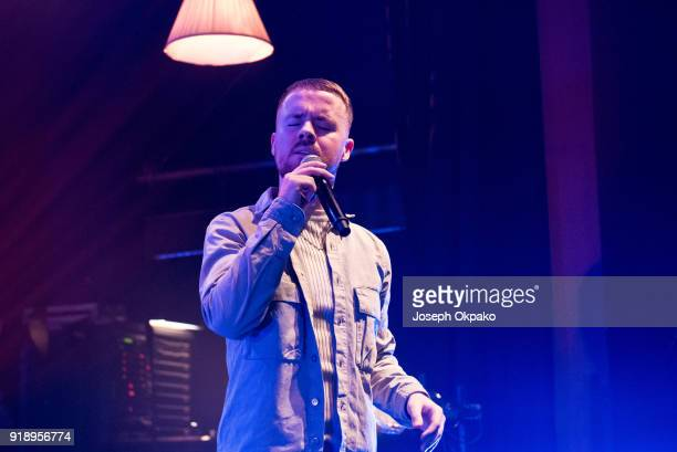 Maverick Sabre performs with Jorja Smith on stage at O2 Shepherd's Bush Empire on February 15 2018 in London England
