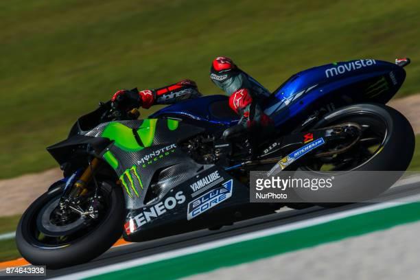 Maverick Viñales Movistar Yamaha MotoGP during the tests of the new season MotoGP 2018 Circuit of Ricardo TormoValencia Spain Wednesday 15th of...