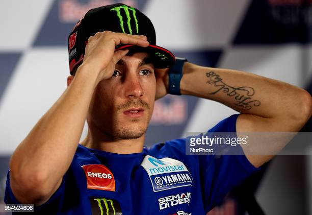 Maverick Viales Movistar Yamaha MotoGP in the press conference before of the Gran Premio Red Bull of Spain Circuit of Jerez Angel Nieto Jerez de la...