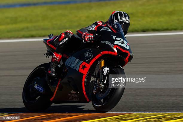 Maverick Vinales from Spain of Movistar Yamaha Moto GP during the colective tests of Moto GP at Circuito de Valencia Ricardo Tormo on November 16th...