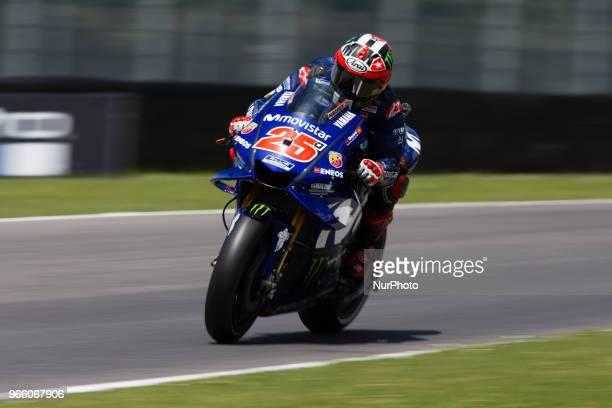 Maverick Vinales of Movistar Yamaha MotoGP during the qualifying of the Oakley Grand Prix of Italy at International Circuit of Mugello on June 2 2018...