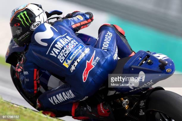 Maverick Vinales of Spain and Movistar Yamaha MotoGP rides during the MotoGP testing at Sepang Circuit on January 28 2018 in Kuala Lumpur Malaysia