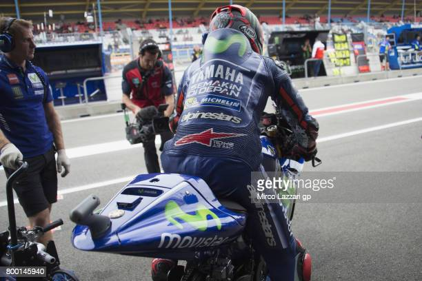 Maverick Vinales of Spain and Movistar Yamaha MotoGP starts from box during the MotoGP Netherlands Free Practice on June 23 2017 in Assen Netherlands