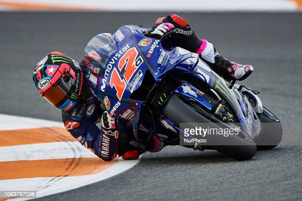 Maverick Vinales of Spain and Yamaha Factory Racing during the test of the new MotoGP season 2019 at Ricardo Tormo Circuit in Valencia Spain on 20th...