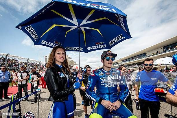 Maverick Vinales of Spain gets ready on the grid during the MotoGP Red Bull US Grand Prix of The Americas Race at Circuit of The Americas on April 10...