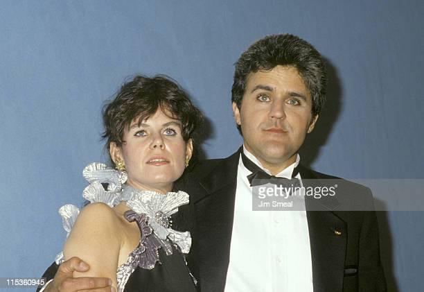 Mavis Leno and Jay Leno during 39th Annual Emmy Awards September 20 1987 at Pasadena Civic Auditorium in Pasadena California United States