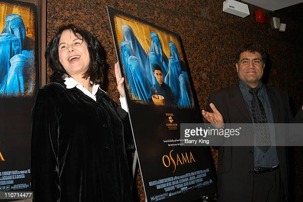 Mavis Leno and Siddiq Barmak during A Special Screening of Osama by United Artists Hosted by Mavis Leno at Museum of Tolerance in West Los Angeles...