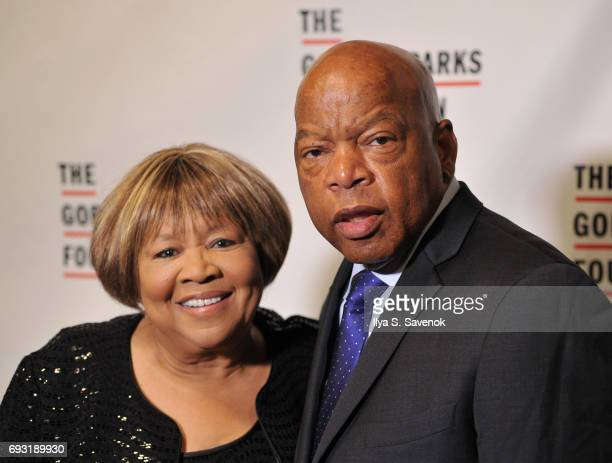 Mavis Staples and Congressman John Lewis attend the 2017 Gordon Parks Foundation Awards Gala at Cipriani 42nd Street on June 6 2017 in New York City