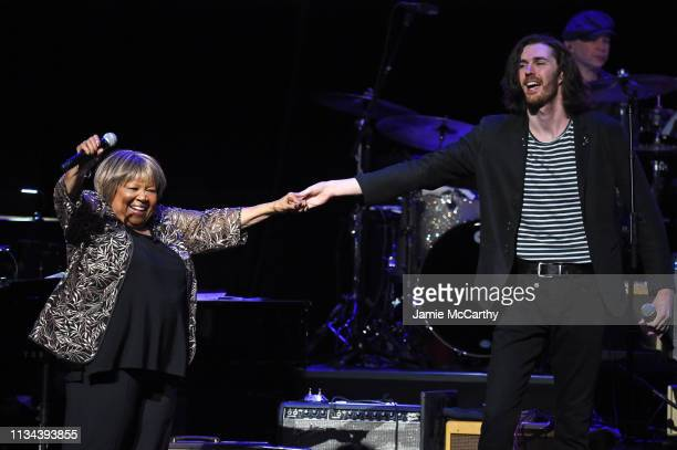 Mavis Staples and Hozier perform onstage during the Third Annual Love Rocks NYC Benefit Concert for God's Love We Deliver on March 07 2019 in New...