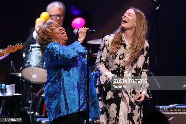 Mavis Staples and Maggie Rogers perform during Newport Folk Presents Mavis Friends at The Apollo Theater on May 9 2019 in New York City