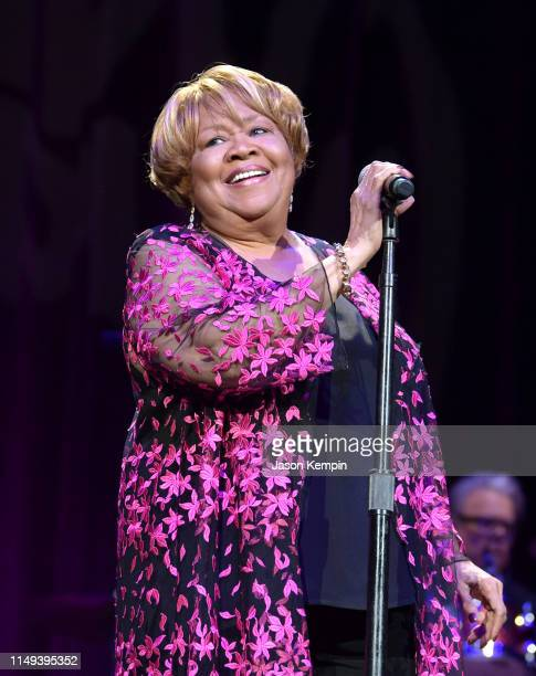 Mavis Staples performs during the Mavis Friends Celebrating 80 Years Of Mavis Staples concert at the Ryman Auditorium on May 15 2019 in Nashville...