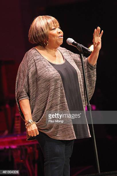 Mavis Staples performs on stage during The Life Songs of Emmylou Harris An All Star Concert Celebration at DAR Constitution Hall on January 10 2015...