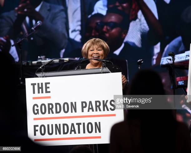 Mavis Staples speaks during the 2017 Gordon Parks Foundation Awards Gala at Cipriani 42nd Street on June 6 2017 in New York City