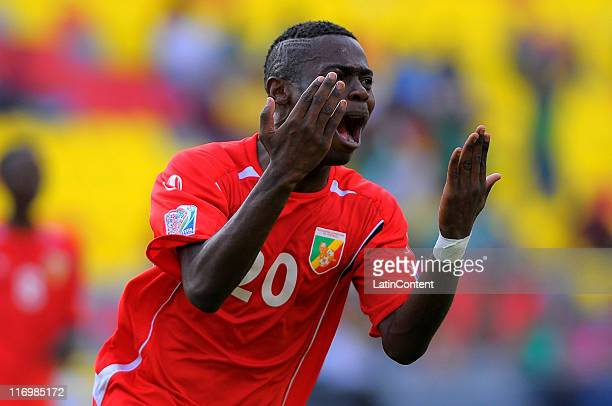 Mavis Tchibota of Congo celebrates a scored goal during a match between Congo and Holland as part of the Group A of the FIFA U-17 World Cup Mexico...