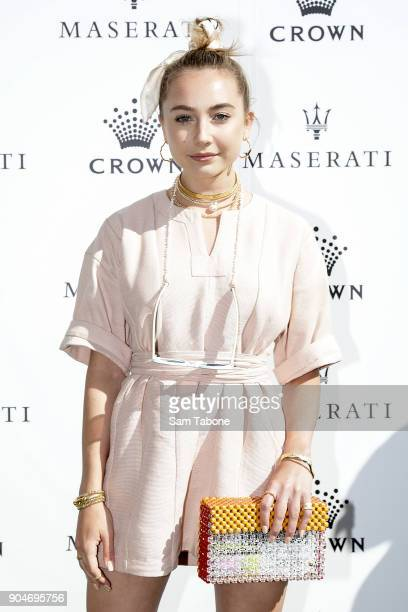 Mavournee Hazel arrives ahead of the 2018 Crown IMG Tennis Player at Crown Palladium on January 14 2018 in Melbourne Australia