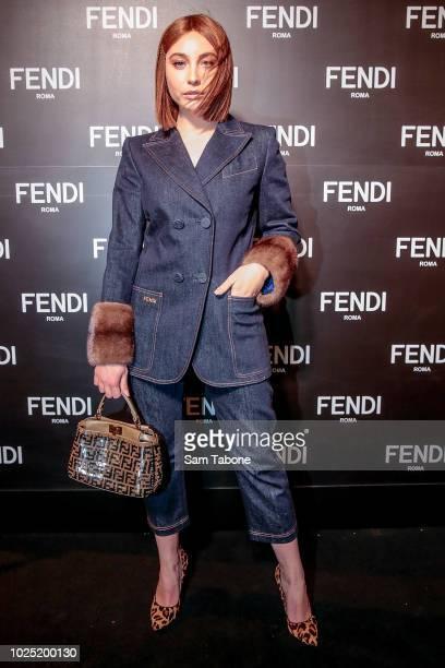 Mavournee Hazel attends the FENDI Melbourne Flagship Store Opening on August 30 2018 in Melbourne Australia