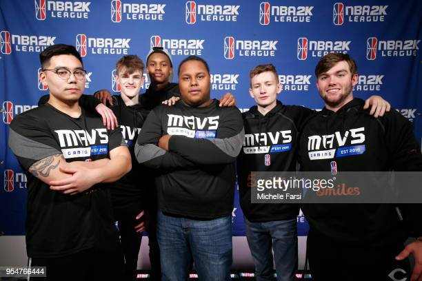 Mavs Gaming after the game against Celtics Crossover Gaming during the NBA 2K League Tip Off Tournament on May 4 2018 at Brooklyn Studios in Long...